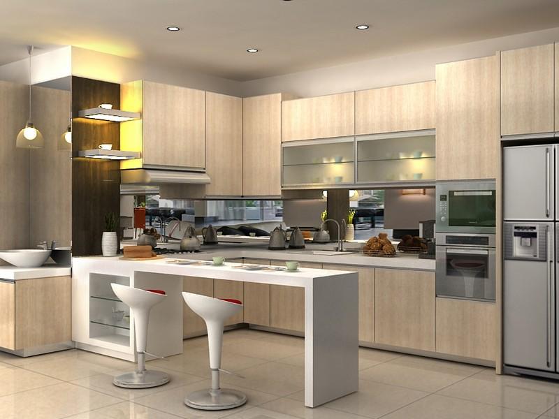 Kitchen set properti for Design kitchen set minimalis